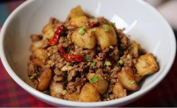 孜然肉末土豆的做法